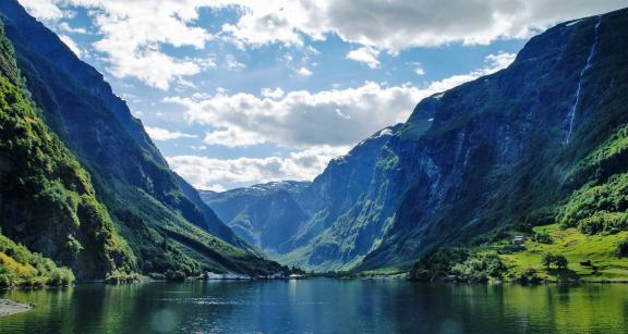 The Fjords of Norway are an attraction for Superyachts