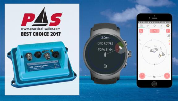VESPER MARINE'S XB-8000 smartAIS® TRANSPONDER NAMED PRACTICAL SAILOR'S 2017 GEAR OF THE YEAR