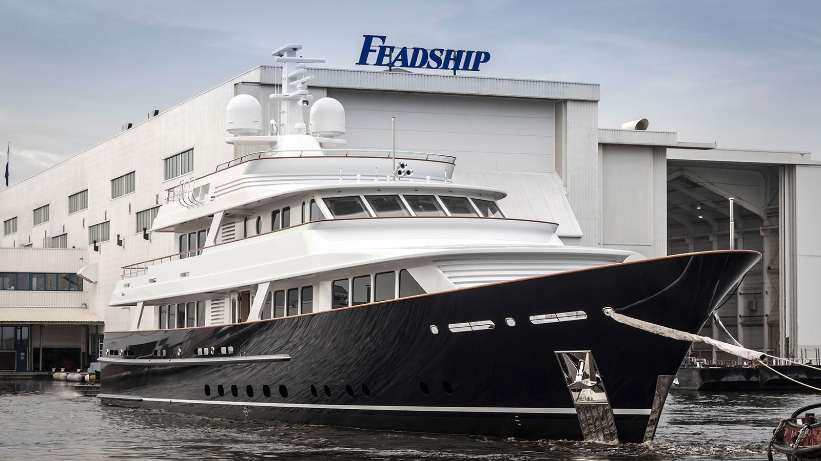 The 47-metre 'Project 697' features classic design by Feadship.