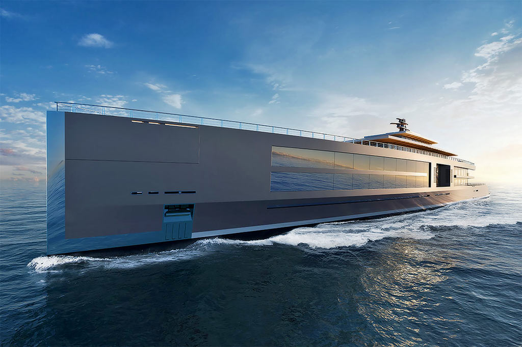 Dubbed Nature, Sinot's superyacht is designed to push the boundaries of contemporary yacht design
