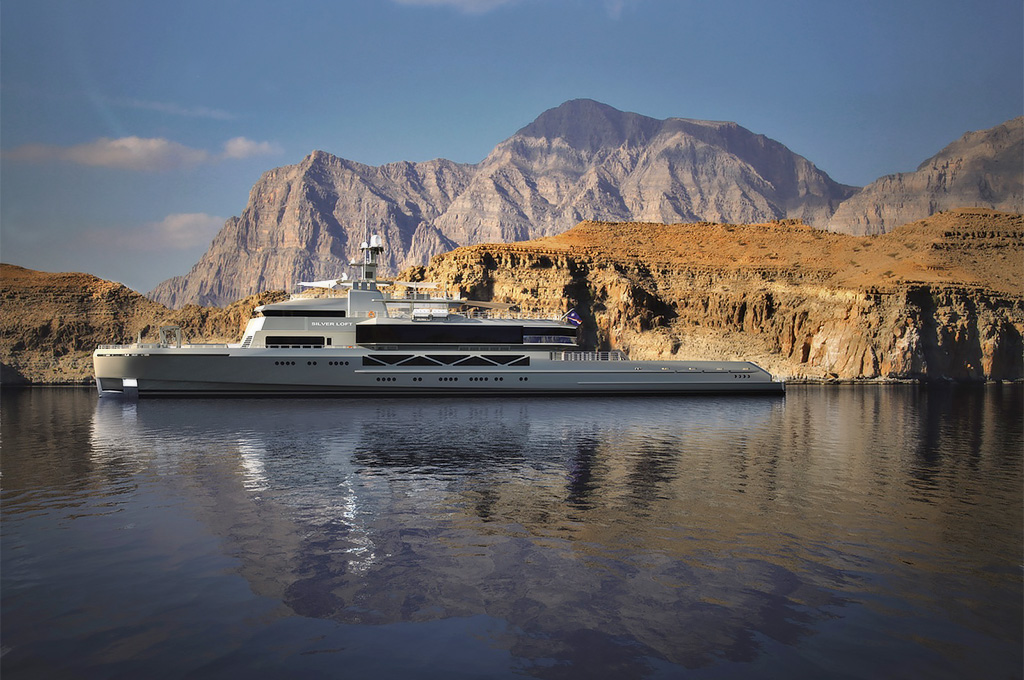 The 85-meter 'Silver Loft' is under construction in Silver Yachts' Western Australian shipyard.