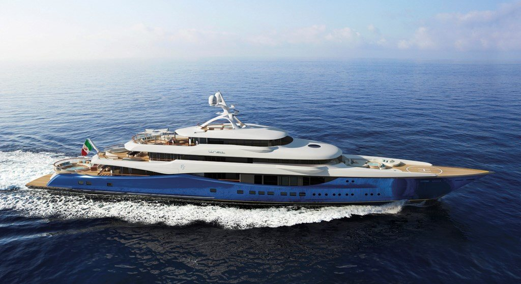 Claydon Reeves and Fincantieri Yachts present 90m Linea Superyacht.