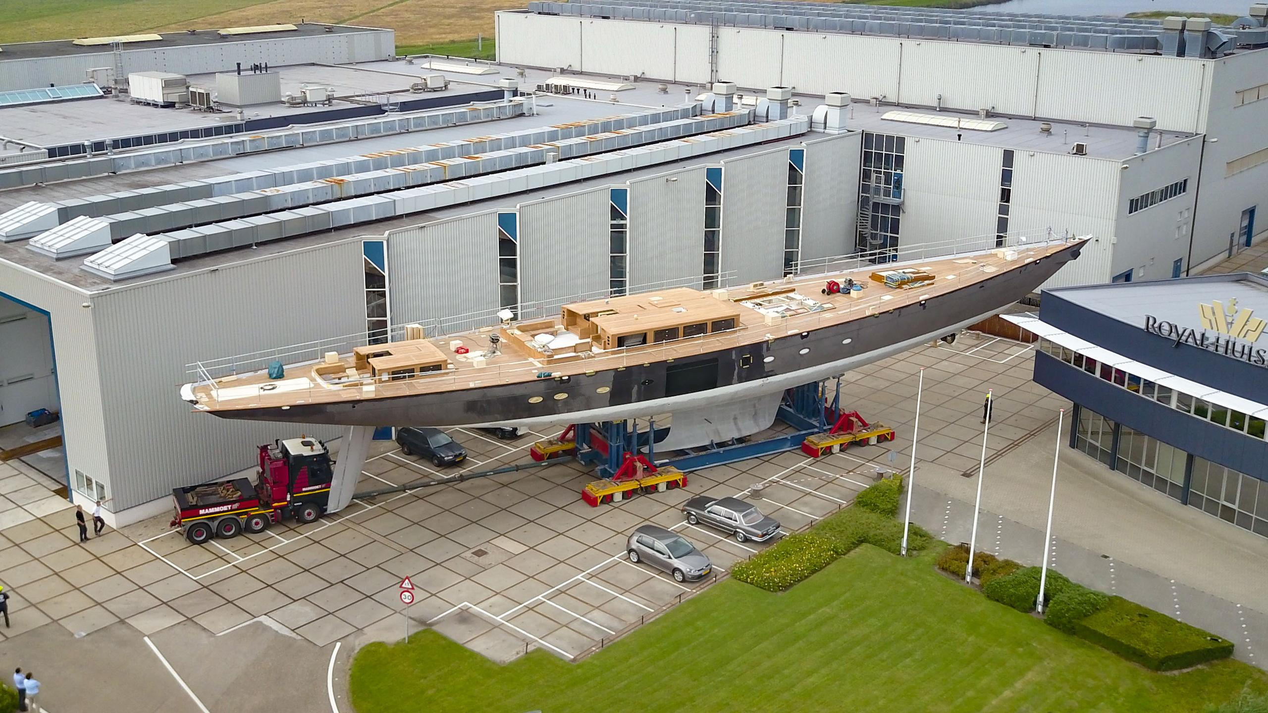Royal Huisman launches 'Project RH399' as 'Aquarius'.