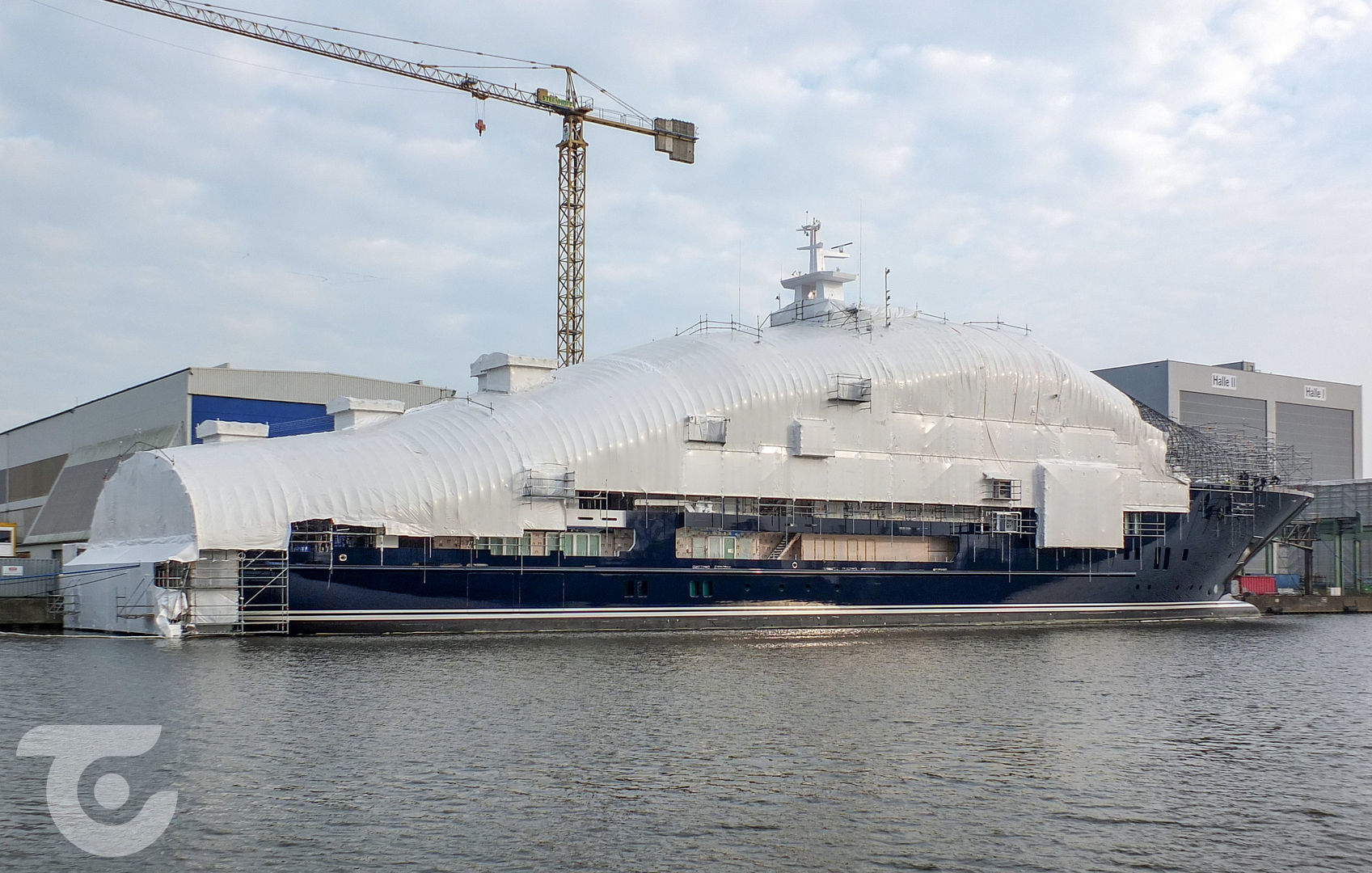 U116 explorer yacht spotted in Germany